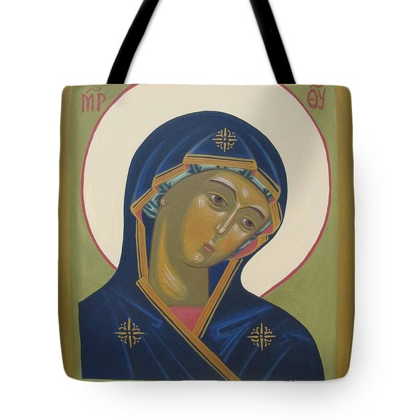 Virgin Mary Icon Tote Bag by Seija Talolahti