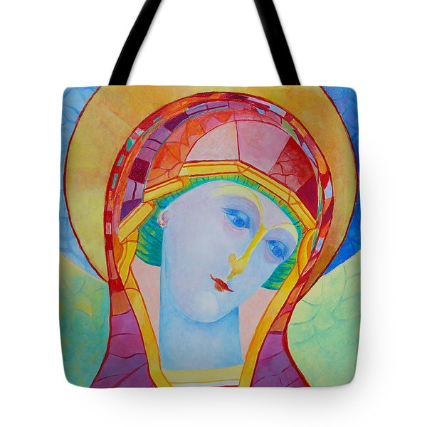 Our Lady Of The Rosary Catholic Art Tote Bag