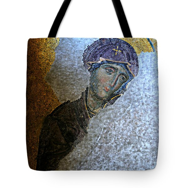 Virgin Mary Tote Bag by Stephen Stookey