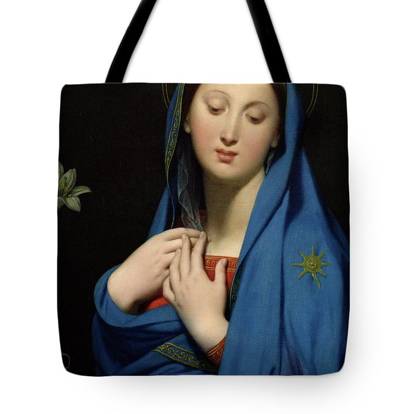 Virgin Of The Adoption Tote Bag by Jean Auguste Dominique Ingres