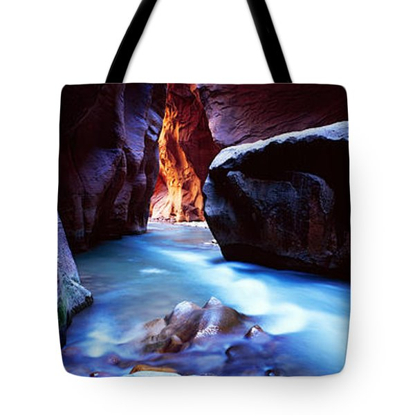 Virgin River At Zion National Park Tote Bag by Panoramic Images