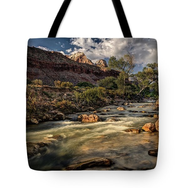 Virgin River Tote Bag by Jeff Burton