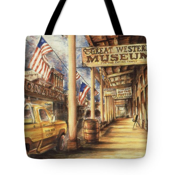Virginia City Nevada - Western Art Painting Tote Bag