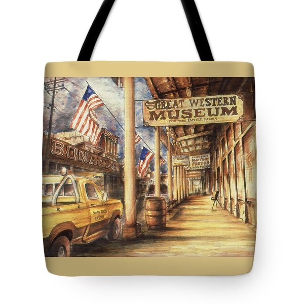 Virginia City Nevada - Western Art Tote Bag by Art America Gallery Peter Potter