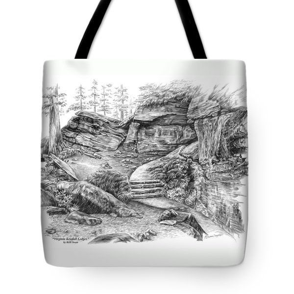 Virginia Kendall Ledges - Cuyahoga Valley National Park Tote Bag by Kelli Swan