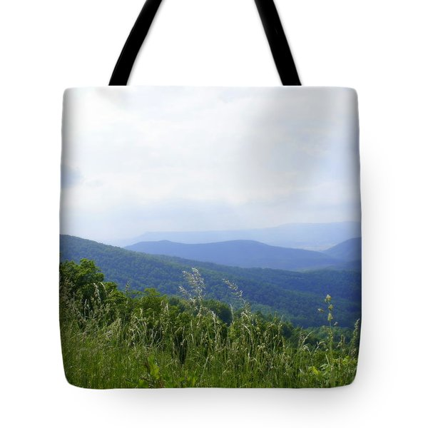 Tote Bag featuring the photograph Virginia Mountains by Laurie Perry