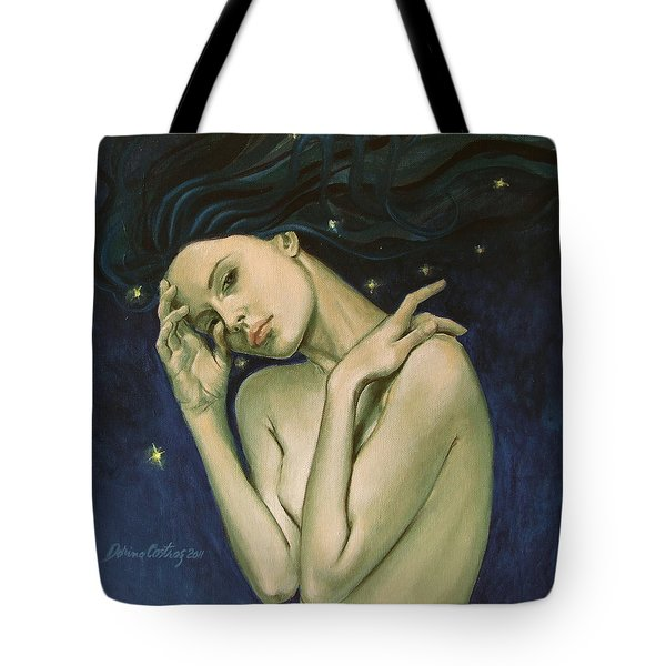 Virgo  From Zodiac Series Tote Bag by Dorina  Costras