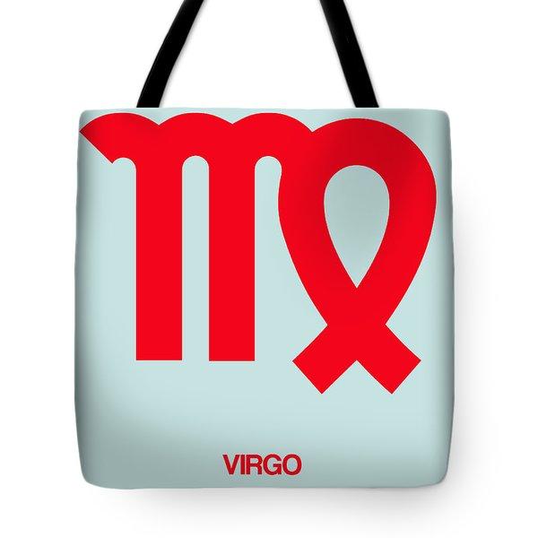 Virgo Zodiac Sign Red Tote Bag