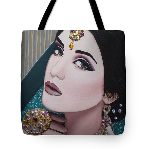 Viridian Indian Beauty Tote Bag