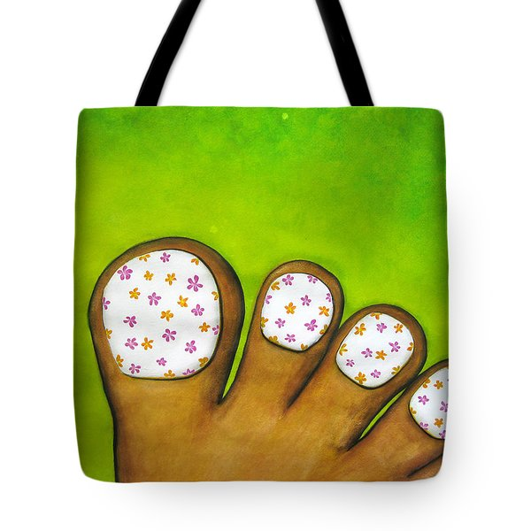 Virtual Pedicure Tote Bag by Oiyee At Oystudio