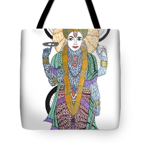 Vishnu II Tote Bag by Kruti Shah
