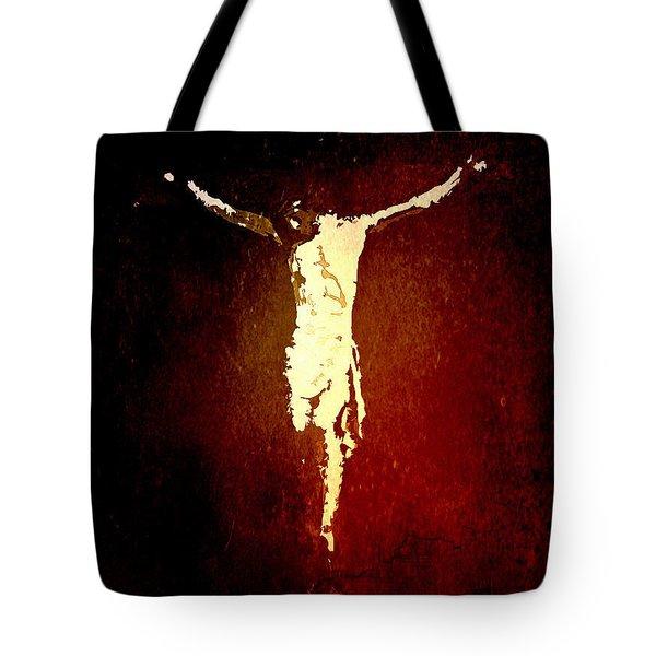 Vision Of Christ Tote Bag by J Jaiam