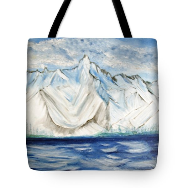 Vision Of Mountain Tote Bag