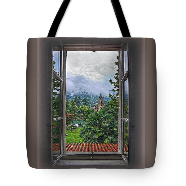 Tote Bag featuring the photograph Vision Through The Window by Hanny Heim