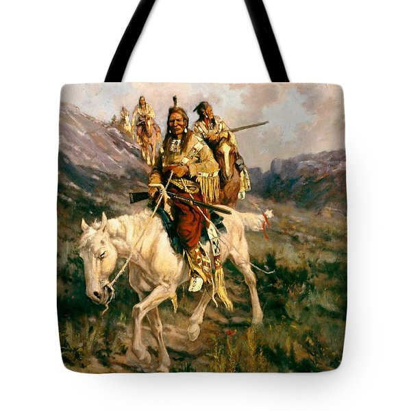 Visit To Another Tribe Tote Bag