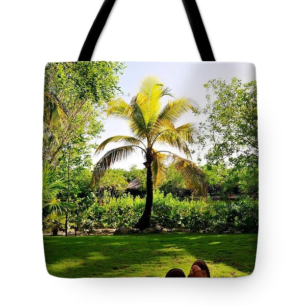Visiting A Mayan Trail Tote Bag
