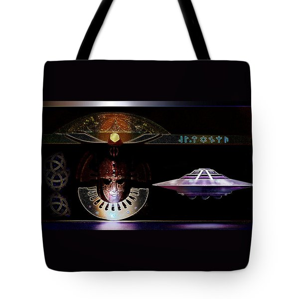 Tote Bag featuring the digital art Visitor To Atlantis by Hartmut Jager