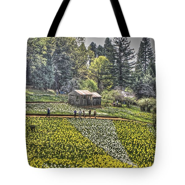Visitors On Daffodil Hill Tote Bag