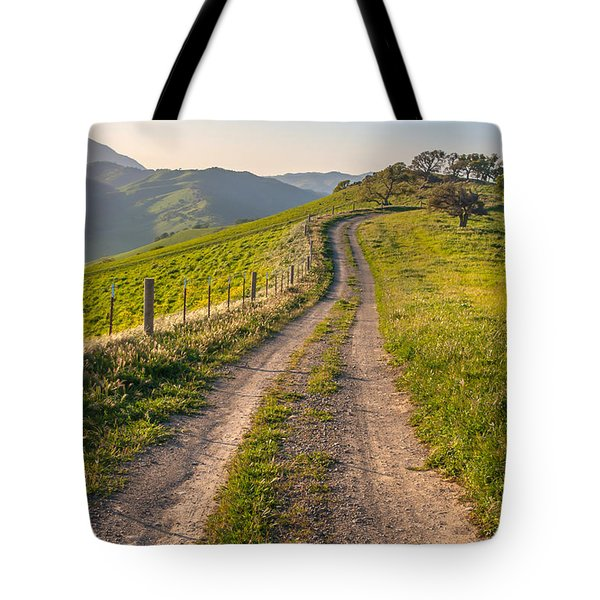 Vista Grande Trail And Mt Diablo Tote Bag by Marc Crumpler
