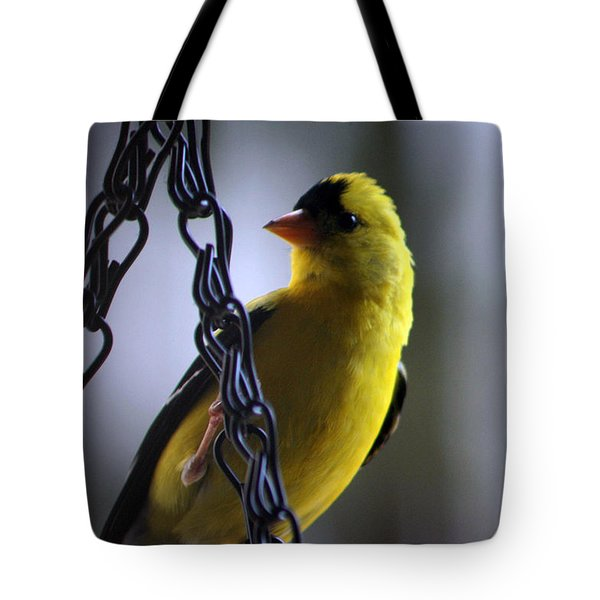 Vistor On A Chain Tote Bag by Andy Lawless