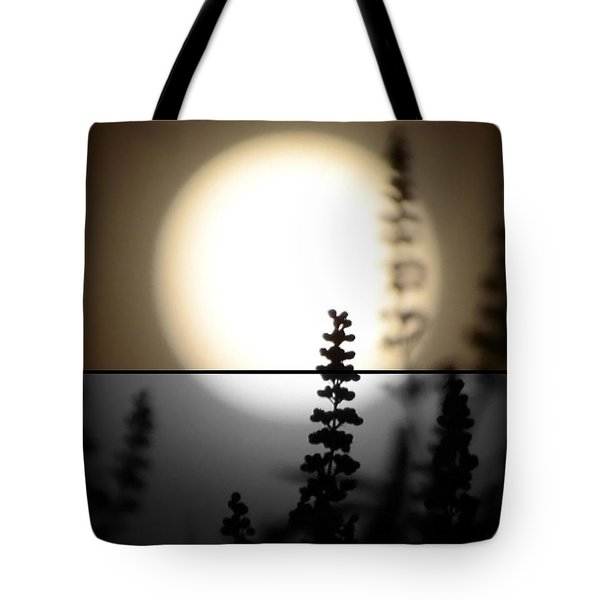 Tote Bag featuring the photograph Vitex Moon by Charlotte Schafer