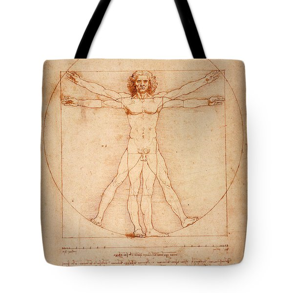 Vitruvian Man Tote Bag by Bill Cannon