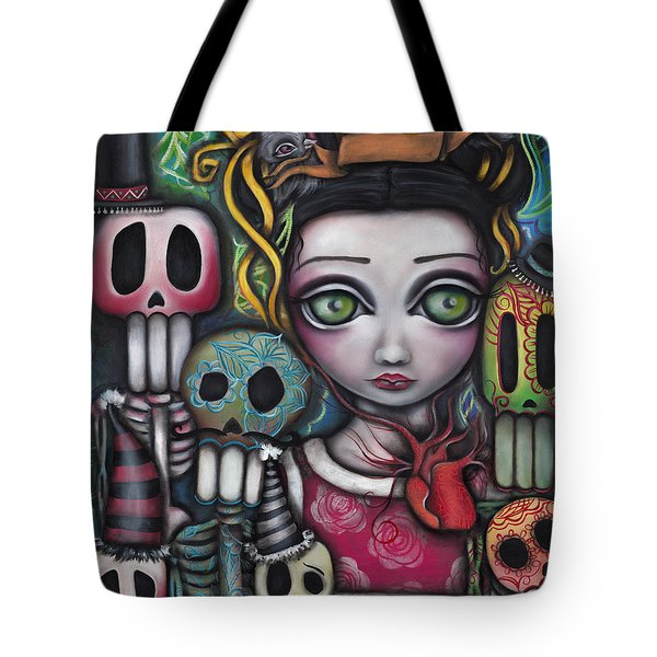 Viva La Vida  Tote Bag by Abril Andrade Griffith