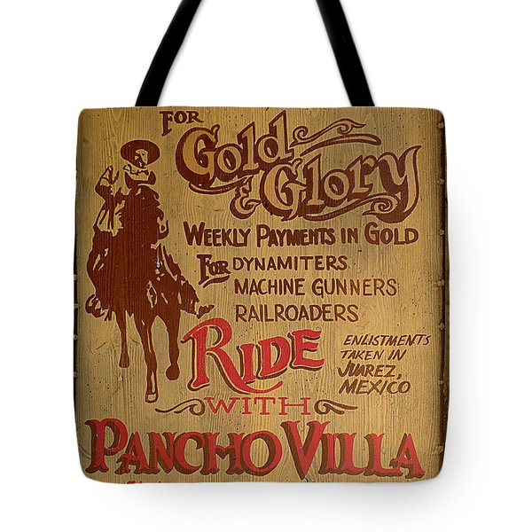 Viva Revolucion - Pancho Villa Tote Bag