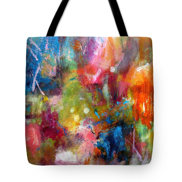 Tote Bag featuring the painting Vivacious by Katie Black