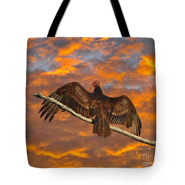 Vivid Vulture Tote Bag