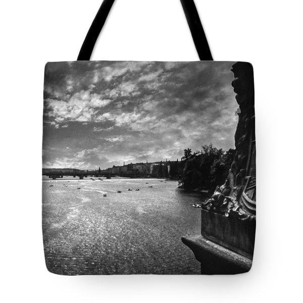 Vltava Tote Bag by Taylan Apukovska