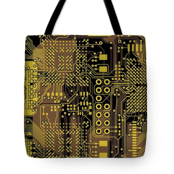 Vo96 Circuit 5 Tote Bag by Paul Vo