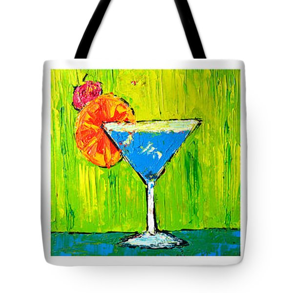 Vodka Martini Collection Bar Decor - Modern Art Tote Bag
