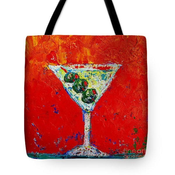 Vodka Martini Shaken Not Stirred - Martini Lovers - Modern Art Tote Bag
