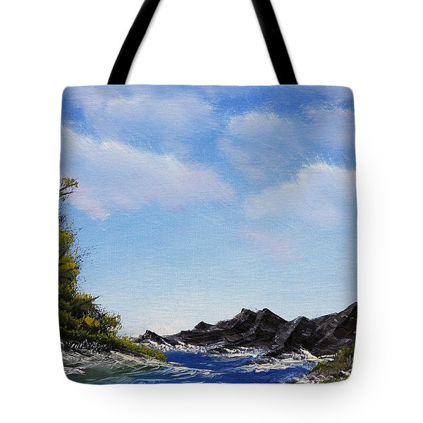Volcanic Rock Lagoon Tote Bag by Jennifer Muller