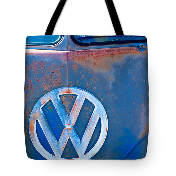 Volkswagen Vw Bus Emblem Tote Bag by Jill Reger