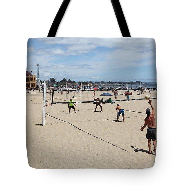 Volleyball At The Santa Cruz Beach Boardwalk California 5d23837 Tote Bag