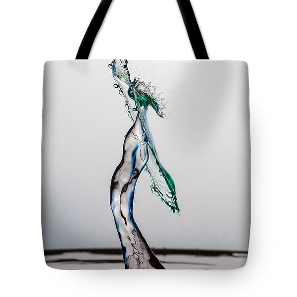Volleyball Splash Tote Bag