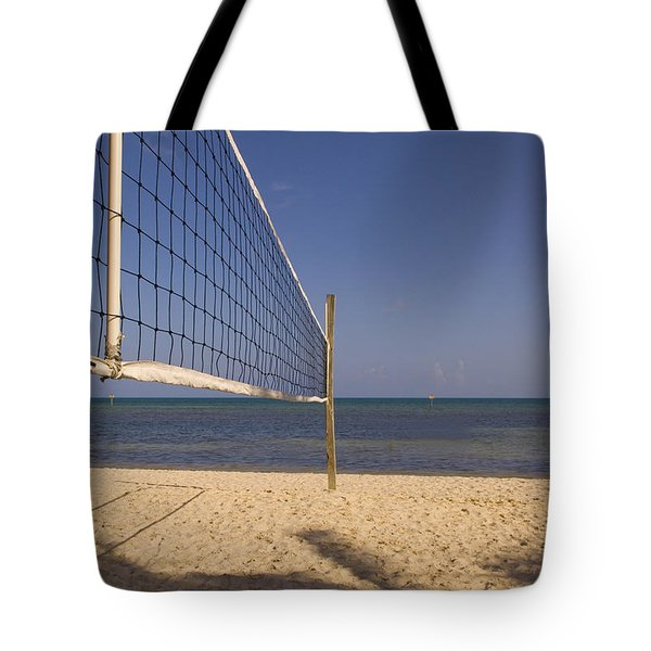 Vollyball Net On The Beach Tote Bag
