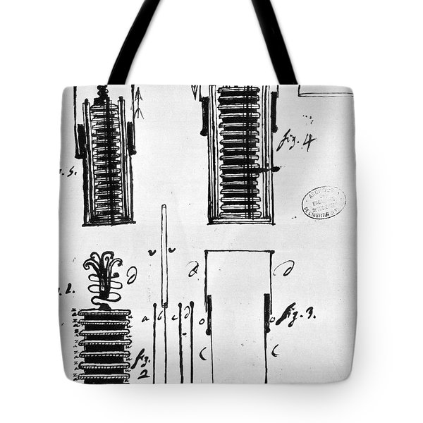 Voltaic Pile, 1801 Tote Bag by Granger