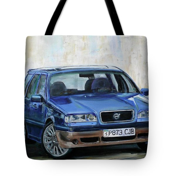Tote Bag featuring the painting Volvo by Anna Ruzsan