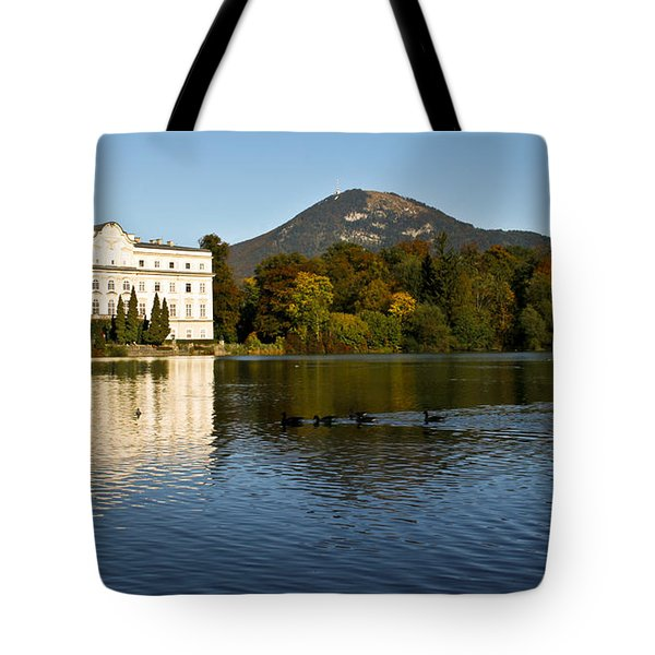 Tote Bag featuring the photograph Von Trapp's Mansion by Silvia Bruno