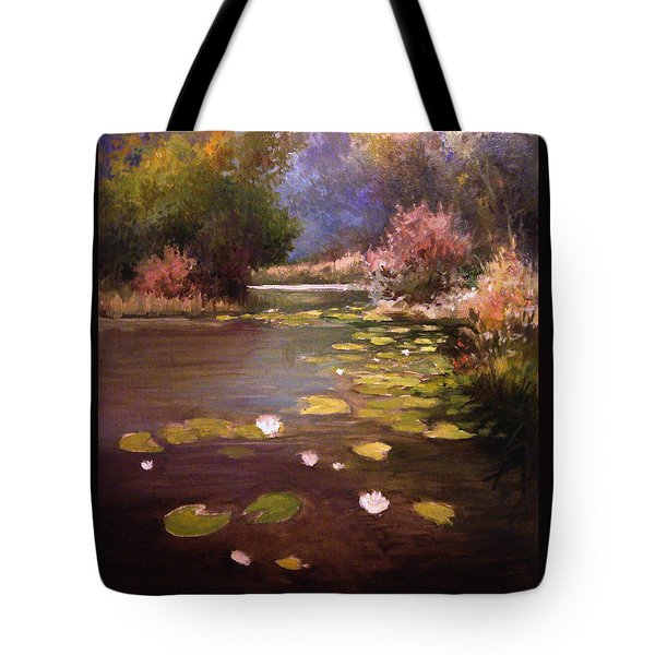 Tote Bag featuring the painting Voronezh River by Mikhail Savchenko