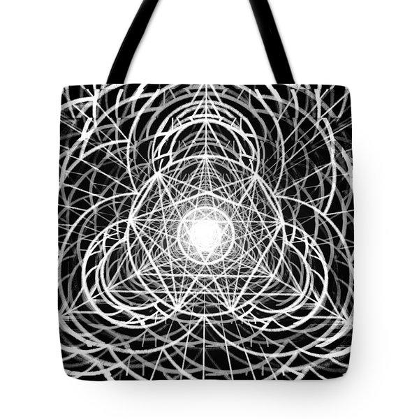 Tote Bag featuring the drawing Vortex Equilibrium by Derek Gedney