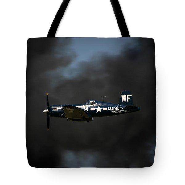 Vought F4u Corsair Tote Bag by Adam Romanowicz