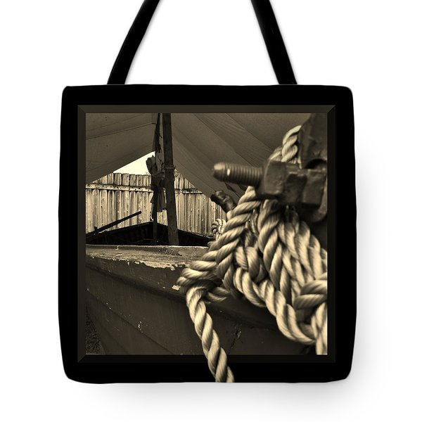 Voyage To The New World Tote Bag by Barbara St Jean
