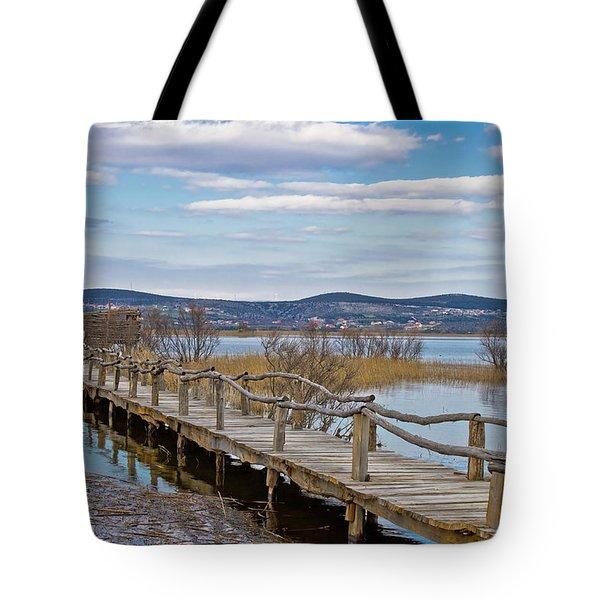 Vransko Lake Nature Park Bird Observatory Tote Bag
