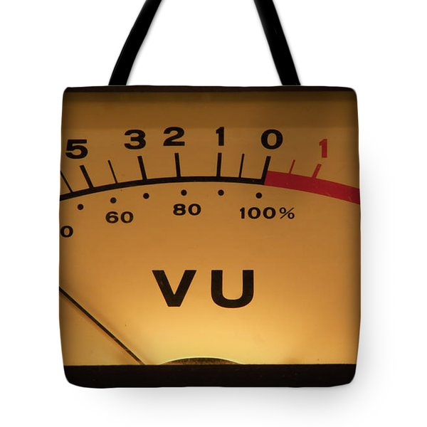 Vu Meter Illuminated Tote Bag