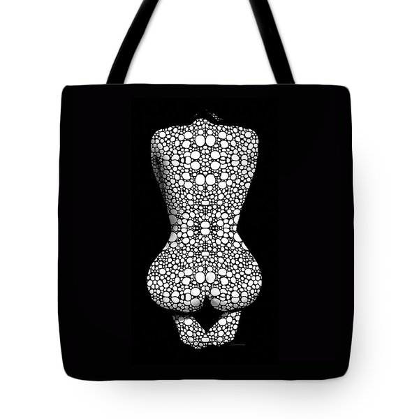 Nude Art - Vulnerable - Black And White By Sharon Cummings Tote Bag