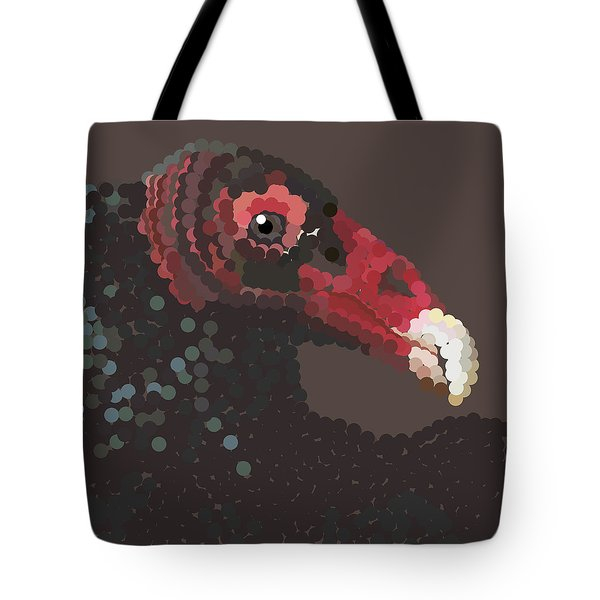 Vulture Pixel Pointillized Tote Bag